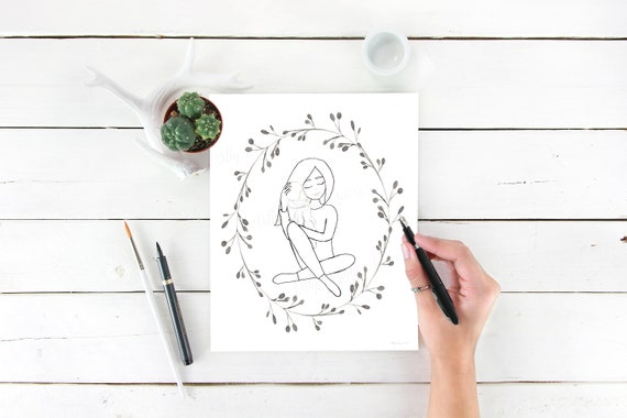 Miscarriage Gift, Coloring Page, Miscarriage, Black and White, Miscarriage Gifts, Miscarriages, Infant Loss, Baby Loss, LDS Art, You Fill In