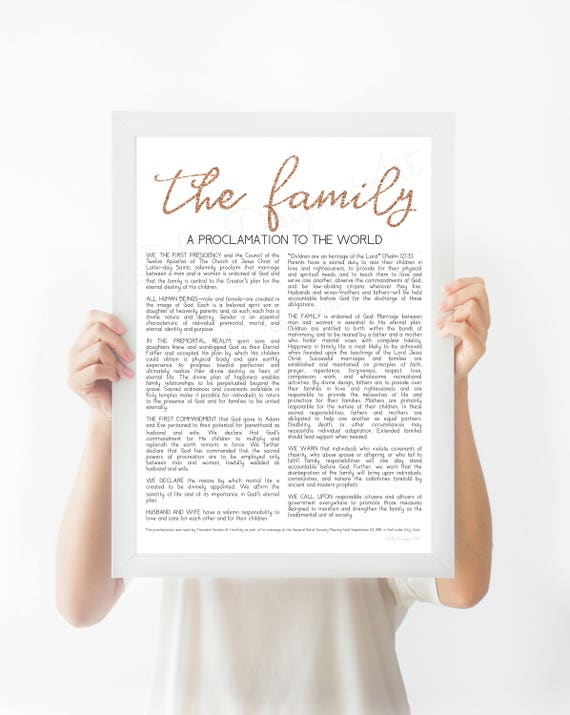The Family Proclamation, Modern Proclamation, Proclamation, Family Proclamation, The Family, Family, Proclamation Sign, Proclamation Print