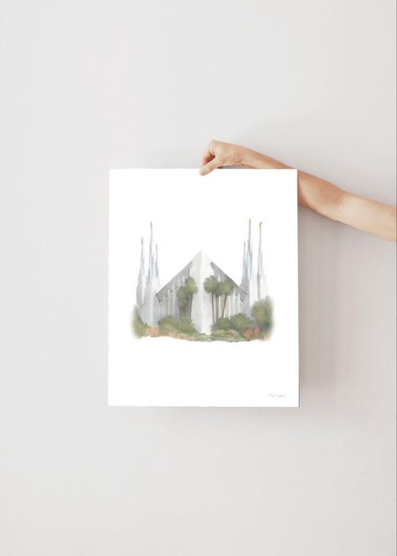 Las Vegas Temple, Vegas Temple, Las Vegas, LDS Temple, Nevada Temple, Nevada LDS Temple, Vegas Temple Art, Temple Printable, LDS Temple Art