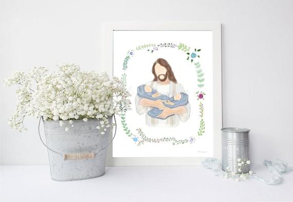 Twin Loss Gift, Comforting Gift, Jesus Printable, Christ Printable, Funeral Art, Memorial Art, Twin Memorial, Twin Babies, Memorial Gift