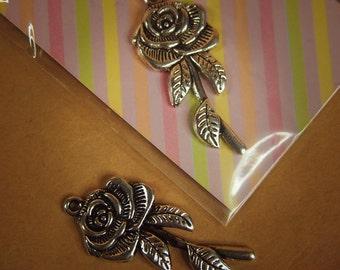 Large Flower Pendant Charms ~1 pieces #100302