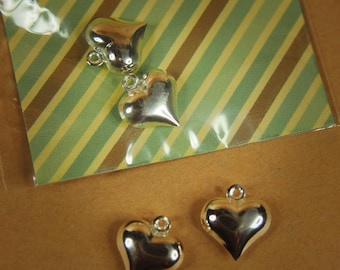 Heart Pendant Charms ~2 pieces #100321