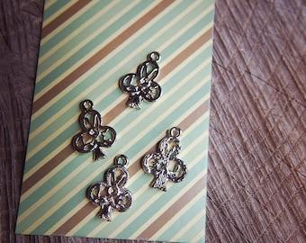 Love Pendant Charms ~4 pieces #100371