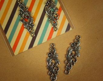 Floral Pendant Charms ~2 pieces #100292