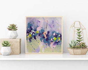 Abstract Art Original Art Abstract Wall art Gift for wife Abstract Painting Art PRINT Violet Painting Modern artwork Home decor Giclee PRINT