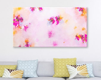 Abstract Art on canvas Abstract Painting Original Art Abstract Wall art Pink Painting Canvas Art Modern artwork Wall hanging Home decor