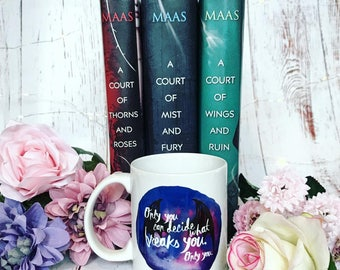What Breaks You Mug - Court of War and Ruin shirt, A Court of Thorns and Roses, Rhysand, Feyre, book shirt, Sarah J Maas, Suriel, Amren