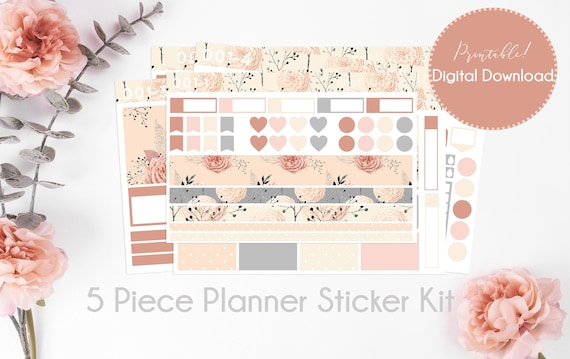 Vintage Floral Planner stickers for Erin Condren Happy Planner A5 Personal etc Planners Weekly