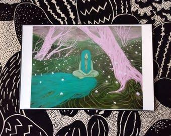 "Lady of the Forest - Fine Art Print - 11x17"" (Plus color varieties)"