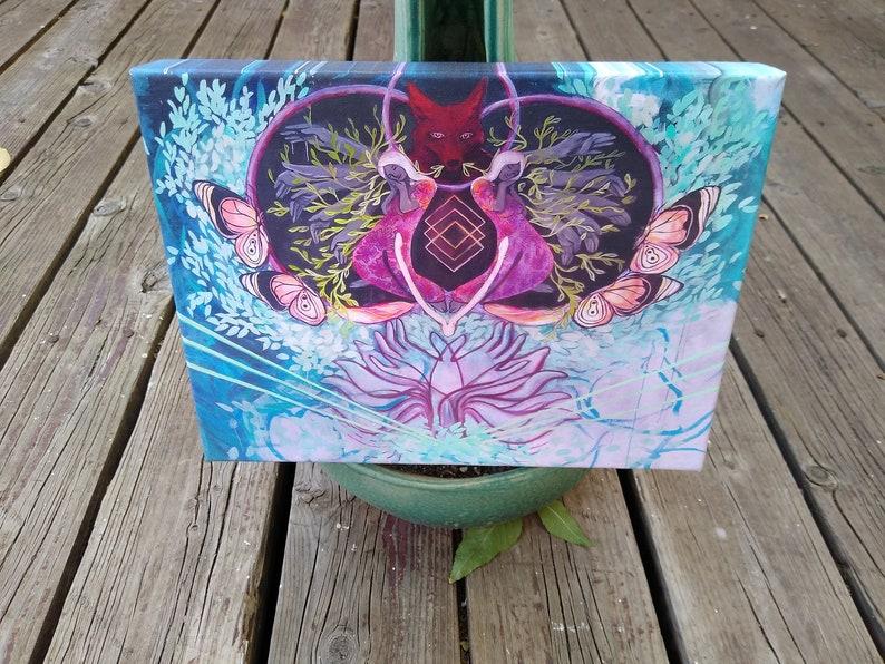 9x12 Coyote/'s Wish Gallery Wrap Edge Canvas Print