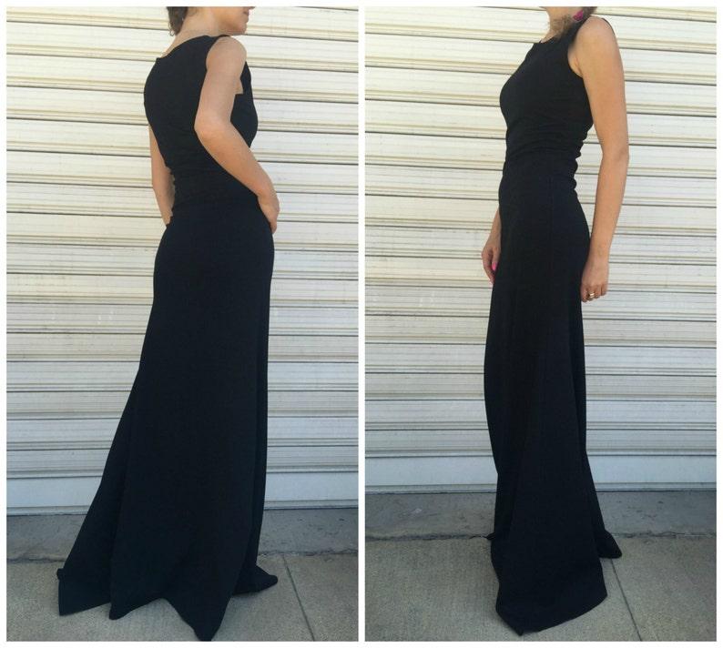 Black Women Sleeveless Dress  Long Elegant Dress  Maxi Party Dress Cult