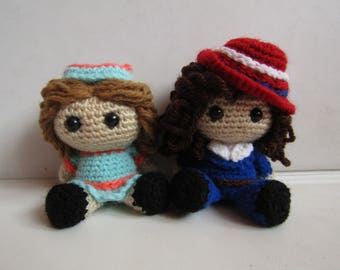 Agent Carter and Angie Amigurumi
