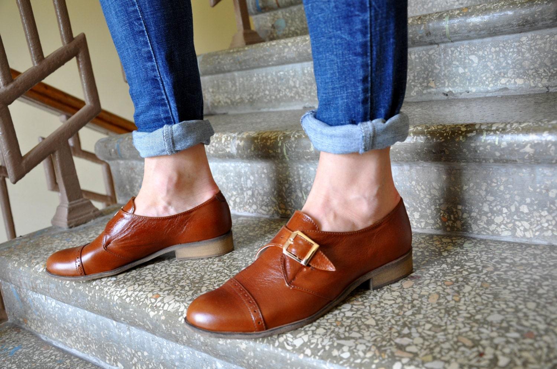 4bb3bd320e3 Duke - Womens Oxfords, Monk Straps, leather shoes, Womens monk shoes,  Oxfords for women, Vintage Shoes, Custom Shoes, FREE customization!!!