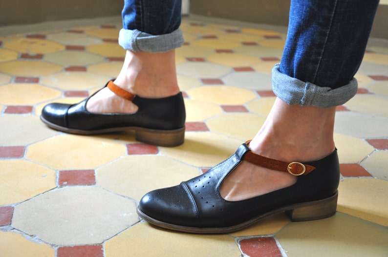 Jane  Women's Mary Janes Leather Mary Janes Vintage image 0