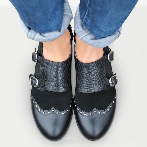 Baron Double Monk Strap Shoes for Women