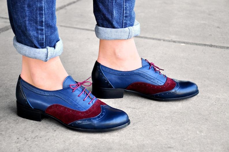 9c8d226e2 Lenox Oxford de cuero para mujer zapatos Brogue zapatos