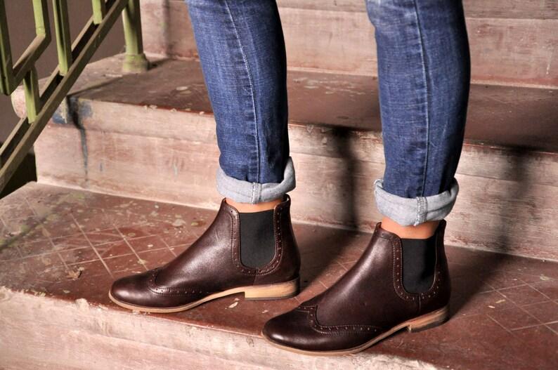 3df7a0849 Chelsea Womens tobillo botas botas de cuero botas Chelsea