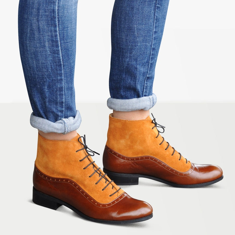 History of Victorian Boots & Shoes for Women     Armada - Womens Fall Boots Lace-up Leather Boots Oxford Boots Leather Ankle Boots Custom boots FREE customization!!!  AT vintagedancer.com