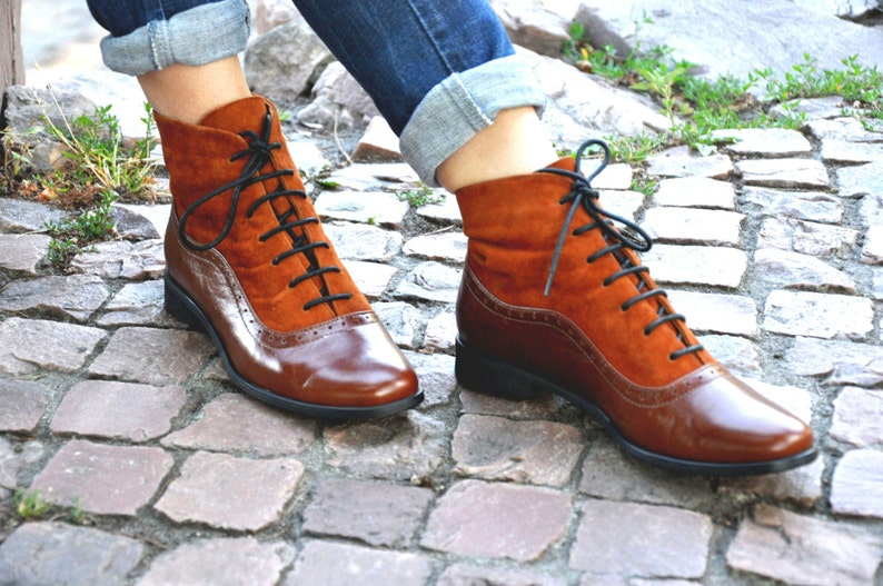 Armada  Womens Fall Boots Lace-up Leather Boots Oxford image 0