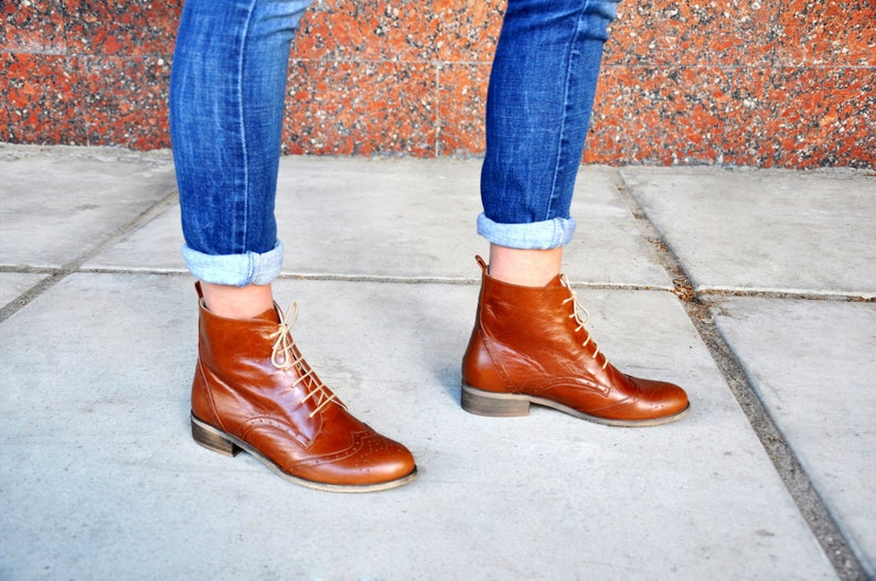 24a9e469f Regent - Womens Fall Boots, Lace-up Leather Boots, Oxford Boots, Retro  Boots, Winter Boots, Custom boots, FREE customization!!!