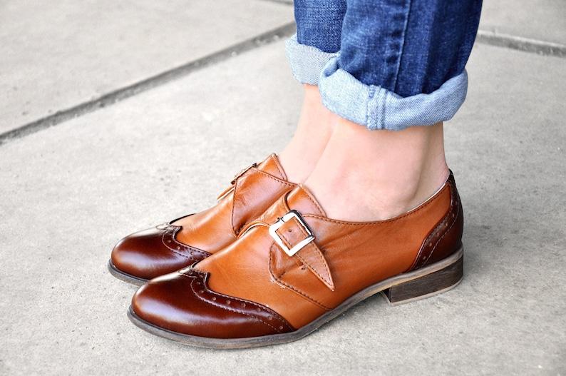 dfe15ed1520 Duke - Womens Oxfords, Multicolor Monk Straps, leather shoes, Womens monk  shoes, Vintage Shoes, Custom Shoes, FREE customization!!!