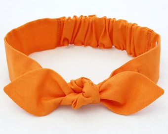 Tangerine Knot headband, Womens Headband, Adult Headband, Headband for Women, Girl Headband, Bow Headband, Girl, Women, Headband, Orange