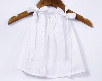 4d66dc4f86e1 White cotton voile baby dress