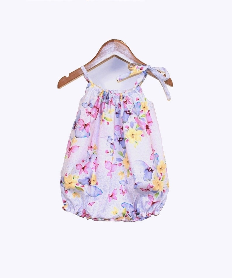 6c99c358585 Purple Butterflies Baby Girl Romper Baby Rompers Bubble