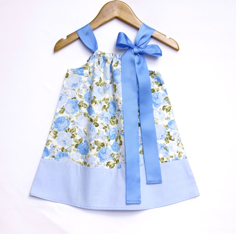 9dc7bca86 Blue Roses Baby Dress baby girl dress baby girl clothes