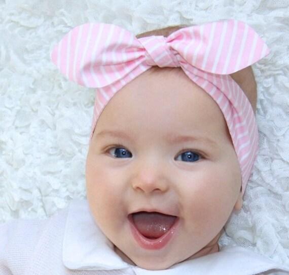 1x Haarband Baby BAUMWOLLE Mädchen elastisch Schleife Stirnband Baby Haarschmuck Accessoires