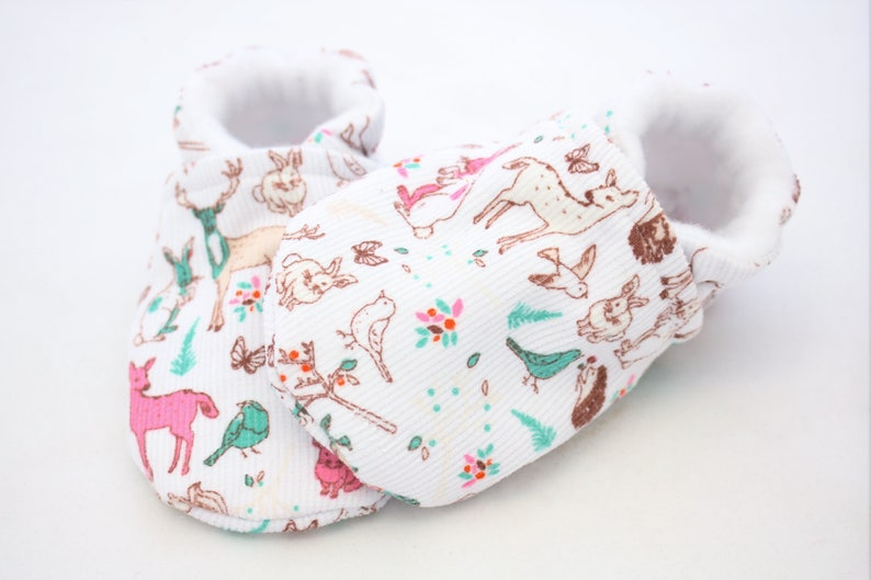 96ef65abc2729 Winter corduroy baby shoes, baby shoes girl, soft sole, baby booties,  winter, baby girl shoes, white reindeer, newborn, white baby shoes