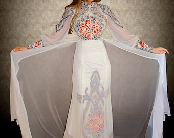 adb92b95252 Wedding dress in Russian style
