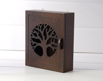 Wooden box for keys - Tree - Wenge