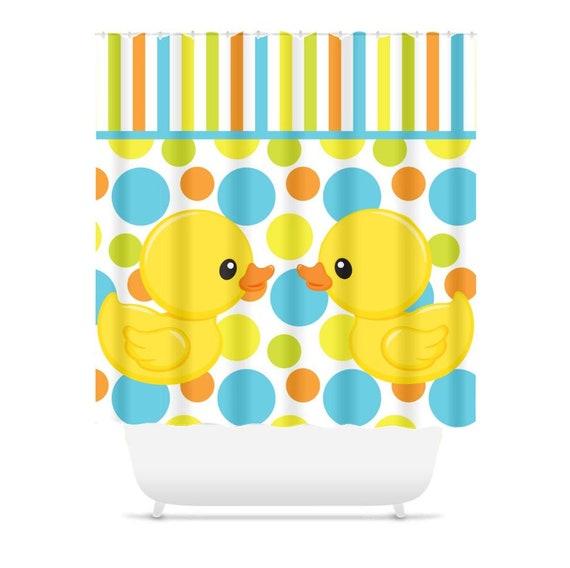 Duck Shower Curtain Rubber Ducky Kids Bathroom Decor