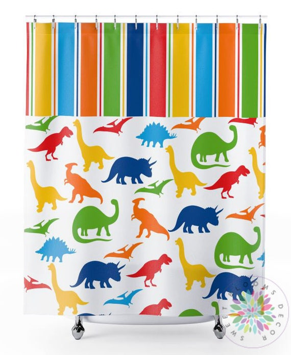 Dinosaur Shower Curtain Bathroom Decor Kids