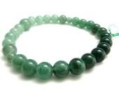 Green Aventurine Quartz Gradation Japanese Juzu Bracelet for Women Gemstone Asian Handmade in Kyoto Gifts for Women Birthstone Bracelet