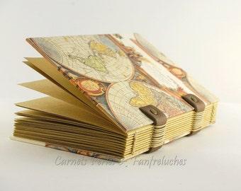 Carnet de notes pour homme composé de 120pages  papier kraft de qualité, reliure copte, carnet de voyage pratique cadeau de fête des pères