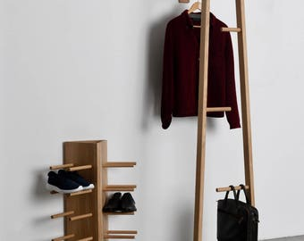 TB.13 Coat Stand, Valet Stand, Clothes Ladder, Hallway Stand
