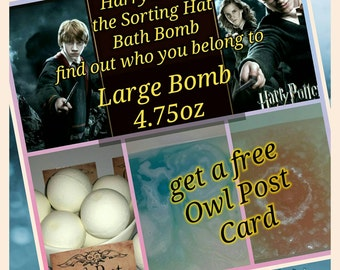 Harry Potter the Sorting Hat Bath Bomb - find out which house is your's ! Lush You Choose your scent !Large Bomb 4.75oz very intensive