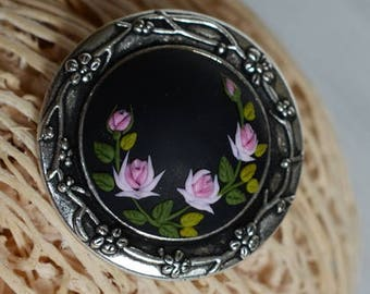 Pink roses women brooch roses brooch floral brooch women birthday gift for mom gift girls mothers day gift sister gift feminine scarf pin