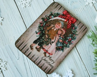 Christmas postcards Christmas cards handmade christmas wife gift for her vintage style christmas picture greeting cards gift ideas for X-mas