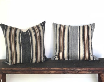 Peruvian woven alpaca pillow cover