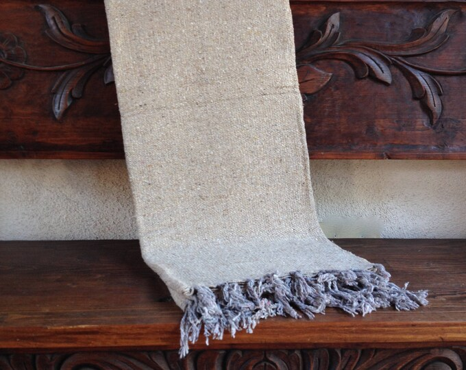 Boho chic beach blanket, yoga blanket, oatmeal color