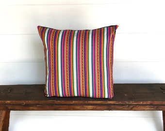 Boho Peruvian textile pillow cover