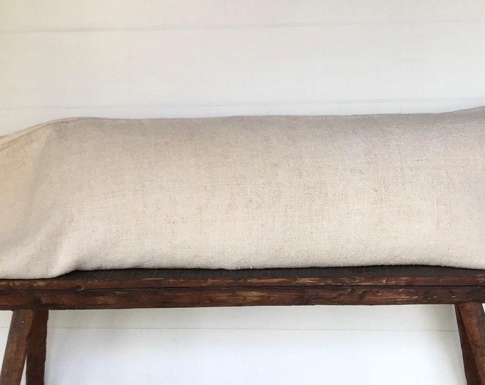 Vintage European grain sack body pillow cover