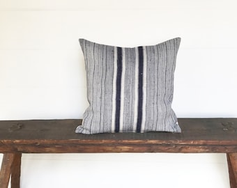 Vintage Hmong hill country hemp boho pillow cover