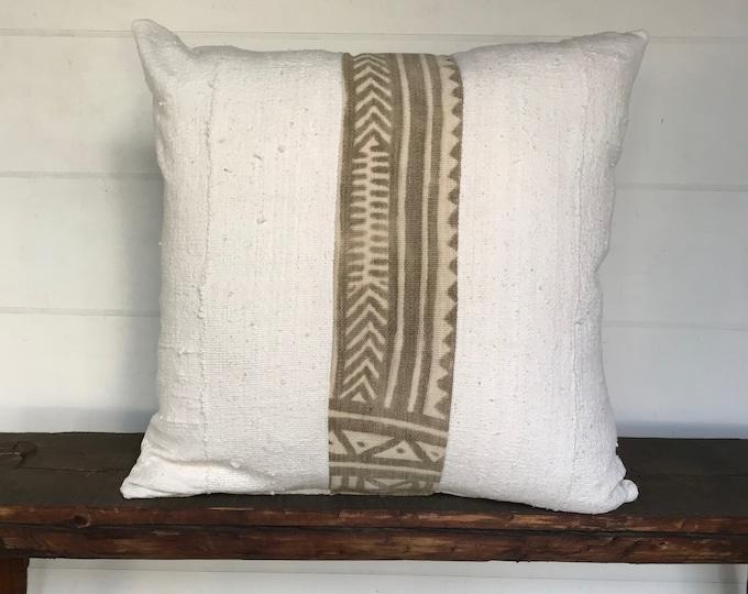 Mudcloth  boho  Euro size pillow cover