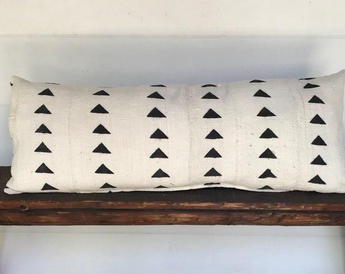 African mudcloth lumbar boho pillow cover