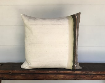 Vintage saltillo and mudcloth  Boho Pillow Cover