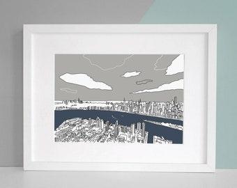 New York Art Print Illustration